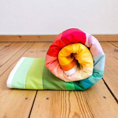 """Babyquilt """"Bunter Regenbogen"""" by FRIEKE handmade (frieke.me)"""