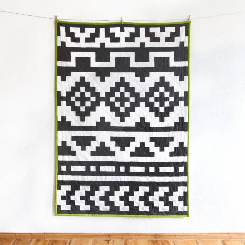 """Quilt """"Native Pixel"""" by FRIEKE handmade (frieke.me)"""